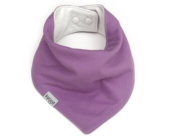 Baby Bandana Bib, dribble bib, baby drool bib, baby scarf bib, toddler scarf bib, toddler drool bib, solid lavender color