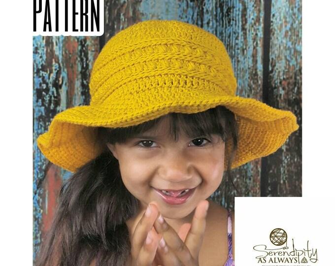 Featured listing image: Sun Hat Crochet Patten | CROCHET PATTERN Summer Sun Hat | Child and Adult Sun Hat Pattern | PDF Digital Download Crochet Pattern