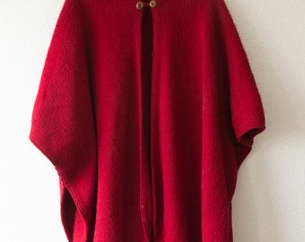 cozy red vintage cape