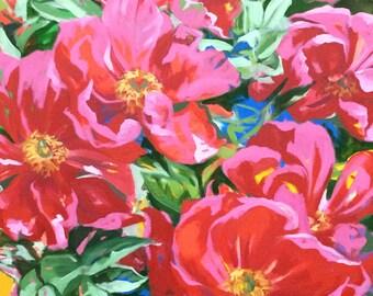"""Original Oil Painting  """"Pink Peonies III"""""""