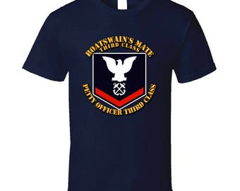Navy - Bm3 - Blue With Txt T Shirt