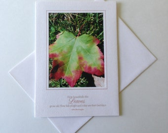 Turning Photo Note Card Blank Inside Inspirational Quote
