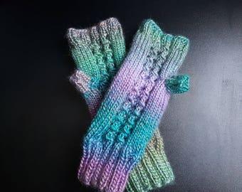 Fingerless Gloves, Knitted Gloves, Knitted Wrist Warmers, Hand Knitted Gloves, Arm Warmers, Fingerless Mittens, Women Gloves, Warm Gloves