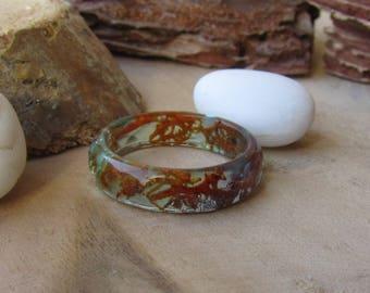 under water ring, resin ring, seafoam ring, ocean resin ring, nautical ring, crystal mermaid ring, resin art ring, nature ring, outdoor gift