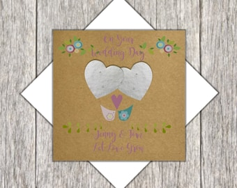 Plantable Seed Heart Wedding Card