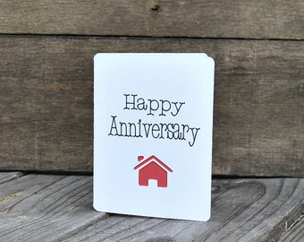 Real Estate Anniversary Card Set, Home Purchase Anniversary, Realtor Cards, Real Estate Cards, New Home - Set of 5 cards - Vertical