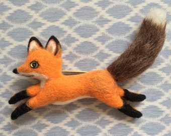 Little Foxy Needle-felt Wool Brooch
