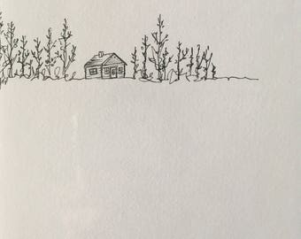 Cabin | Pen and Ink Drawing | Original Art