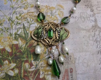 Lily of the Valley Necklace--Vintage Art Nouveau