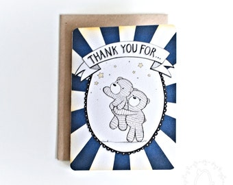 Beary Cute A6 Thank You Card - Pick Me Up