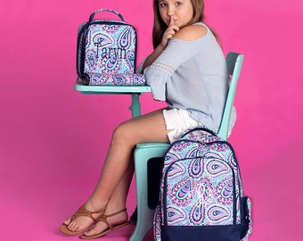 Sophie Backpack and Lunch box Set, MONOGRAM INCLUDED, Personalized Backpack, Monogram Backpack, Girl Backpack, Back to School