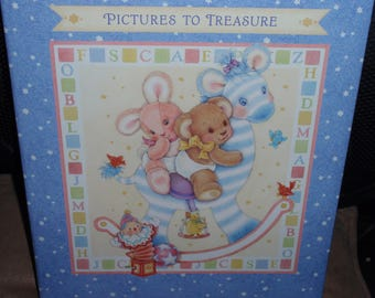 Hallmark Baby's Pictures to Treasure Photo Book With Large Self Adhesive Pages by Hallmark Photo Safe