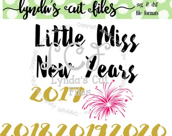 Little Miss New Years  SVG/DXF file