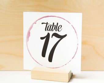 Winery Wedding Decor, Wedding Signs, Wedding Printables, Wedding Table Signs, Table Numbers, Table Number Cards, Wine Wedding Decor
