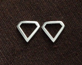 4 of 925 Sterling Silver Diamond Shape Links , Connectors  10 mm. :tm0031