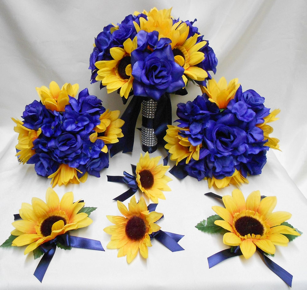 Wedding silk flower bridal bouquets your colors 18 pcs package zoom izmirmasajfo