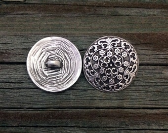 Pirate Silversmith Pewter Shank Buttons 7/8 Inch (22 mm)