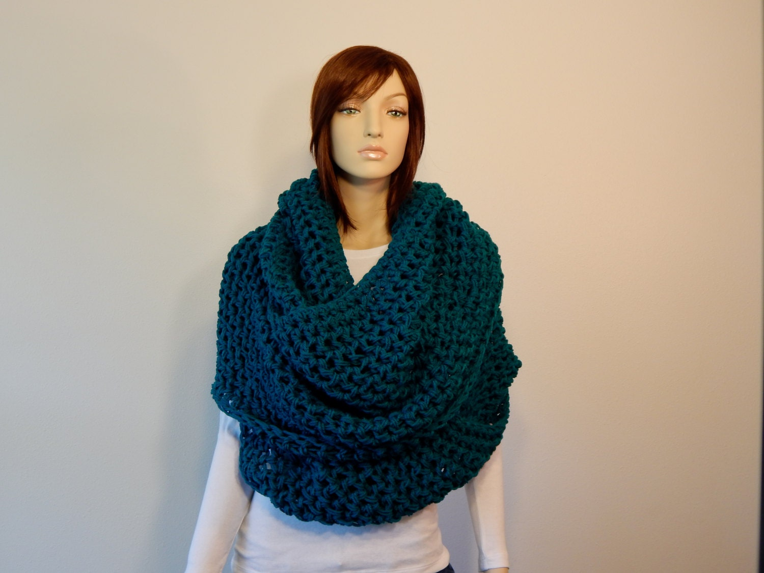 Crochet PATTERN PDF, The Colossal Cowl, Extra Large Circle Scarf ...