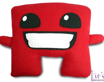 Super Meat Boy Plush / Fleece Plush Toy / Fleece Stuffed Toy / Video Game Characters