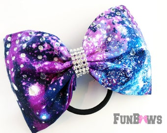 Galaxy - Space - Awesome new Boutique rhinestone cheer bow by FunBows !