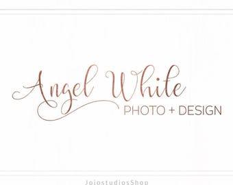 Rose Gold Logo, Modern Logo Design, Premade Logo, Photography Logo, Design Logo, Branding Kit, Premade Logo Design, Watermark Logo L128