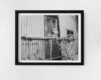 Digital Print | Wall Decor | Creepy Gurney at Abandoned Building