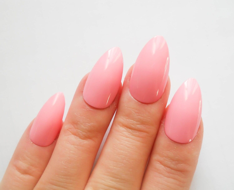 Pink Nails / Fake Nails / Stiletto Nails / Press on Nails /