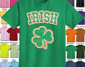 Irish Shamrock T-Shirt - Adult Unisex - We carry sizes S - 5XL in 30 Colors!