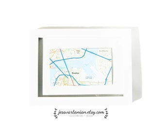 Custom Map Location Framed
