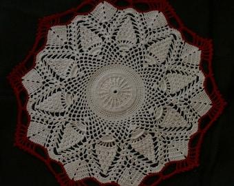 Crochet doily, pineapple round doily,crochet pineapple doily, lacY doily, round doily, crochet round doily
