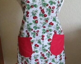 Wild Strawberry Apron