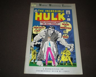 Marvel Milestone Edition 1, (1991), Incredible Hulk 1 Reprint (1962), Marvel C10