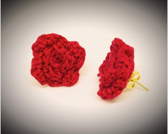 Rose Crochet Stud Earrings