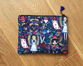 Alice in Wonderland (Navy) Collection Small Purse / Coin Purse - Rifle Paper Co. (Free UK P&P)