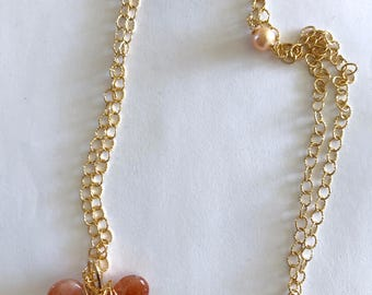 Sunstone Gold fill necklace, Gifts for her, Lilyb444, modglam,