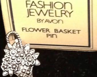 AVON Fashion Jewlery Flower Basket Pin