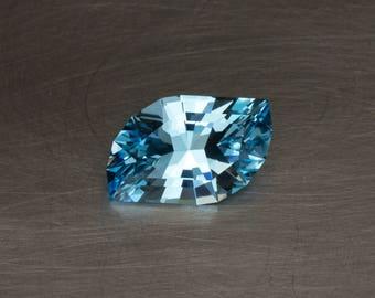 Sky Blue Topaz Natural Loose Creative Modern Designer Freeform Leaf Cut Gemstone