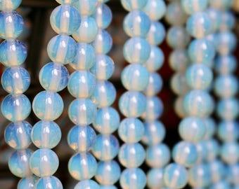 8mm Opalite beads, full strand, natural stone beads, round, 80050