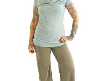 Breezy Pants - XL - CLIFFORD STRIPE - Organic Cotton/Lycra