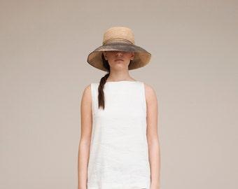 Wide brim black straw hat ,Straw hat , Straw hat for women , Summer hats , Sun hat , Beach hat, Boho chic hat , raffia hat