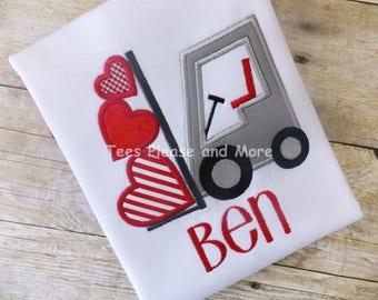Valentine Forklift T-shirt Personalized
