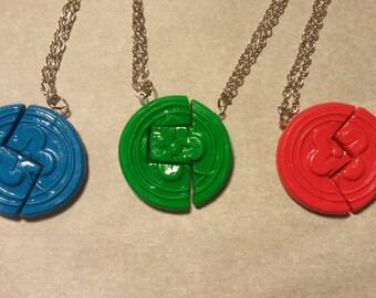 Legend of Zelda: The Minish Cap Kinstone friendship necklaces