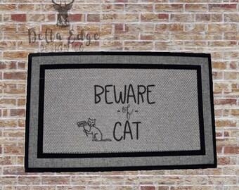 Beware of Cat- Doormat