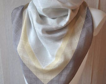 Vintage gray shades  silk scarf