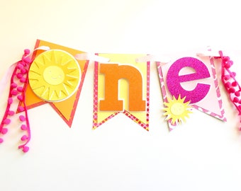 You are my sunshine first birthday banner, sunshine smash cake banner, first birthday smash cake sunshine, 1st birthday sunshine banner