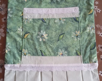 Copriforno Green flowered with pocket
