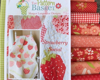 Strawberry Social Quilt Kit with Fig Tree Fabrics