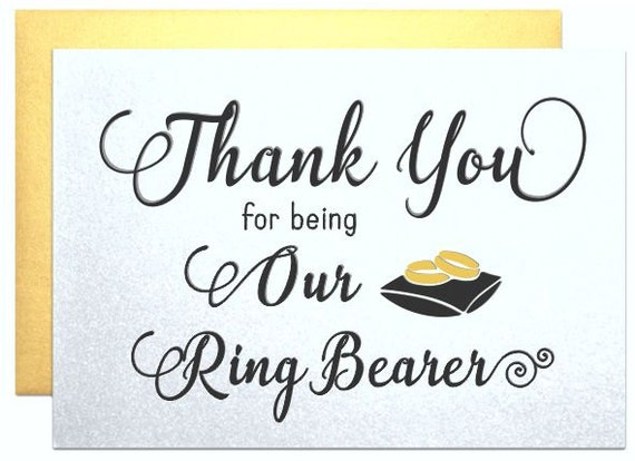 Wedding Thank You Cards For Ring Bearer Gift Wedding Party