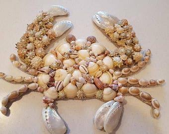Seashell Crab - Coastal Decor - Beach Decor - Nautical Decor