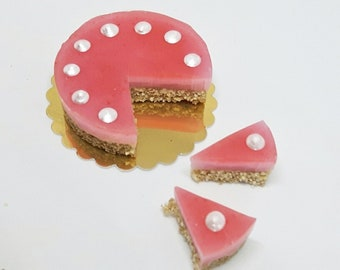 Dolls house strawberry cheesecake